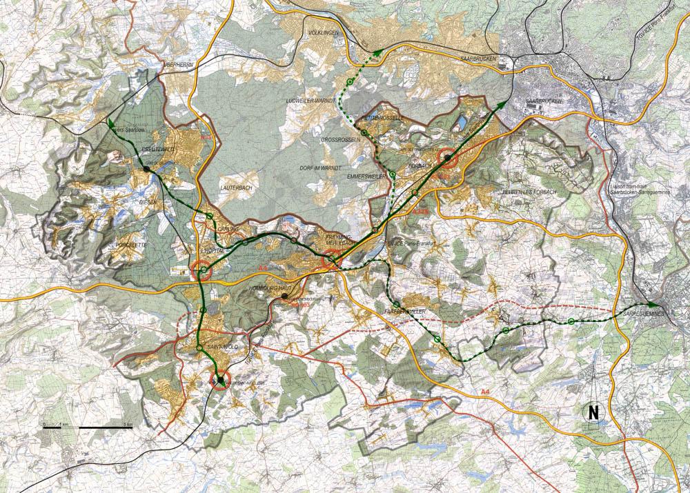 Faire du projet du tram-train l'ossature de la mobilité transfrontalière et du renouveau urbain