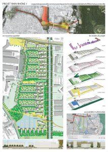 U n grand espace public commun avec le parc technologique relié à la forêt d'Illkirch et au centre ville