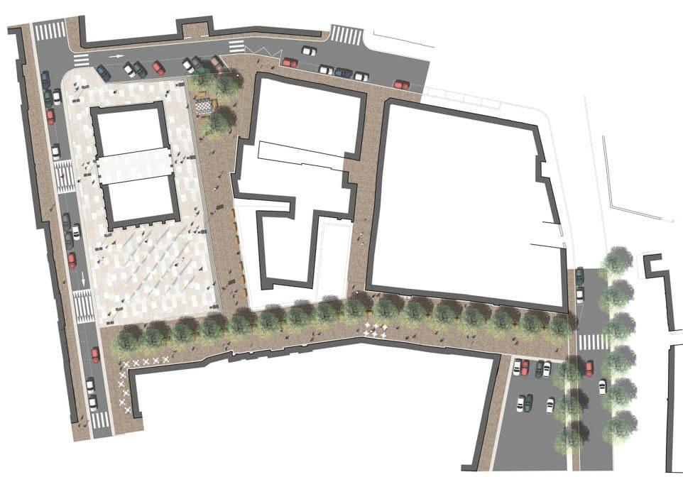 Plan de la Place d'Arçon et de la rue Sainte-Anne